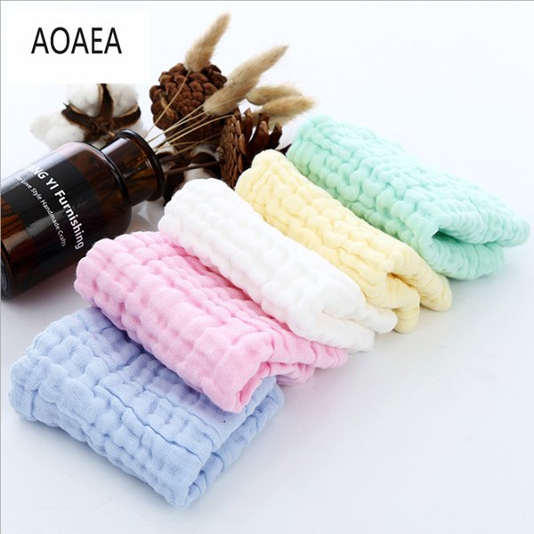 25 pices Six-layer gauze square fold 30*30 slobber baby bubble cotton six-layer gauze square To report Towel