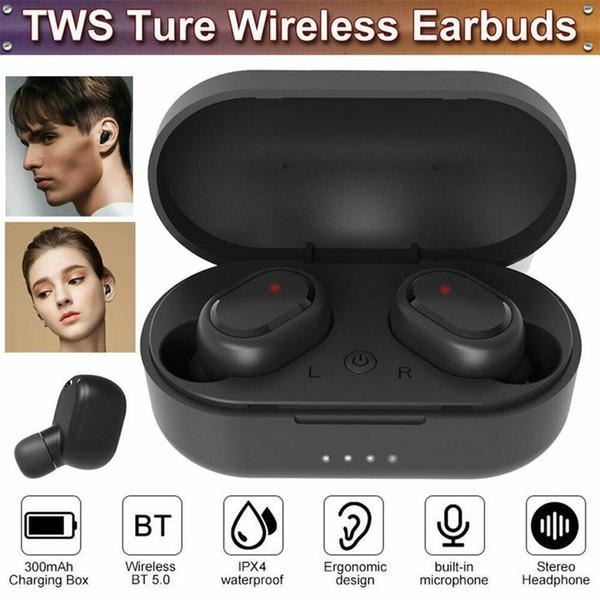 M1 Bluetooth Kulaklık VS redmi Airdots Kablosuz Kulaklık iPhone Xiaomi Huawei Samsung DHL gemi için 5.0 TWS Kulaklık Gürültü Önleyici Mikrofon