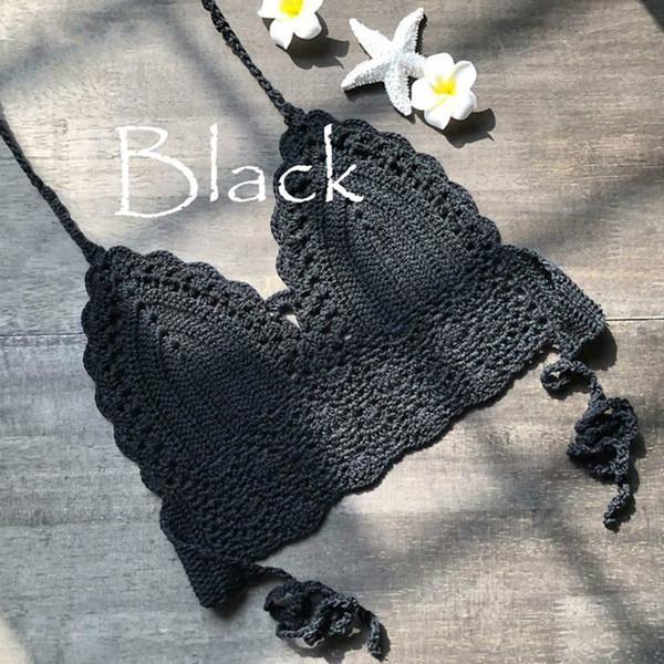 Frauen Sommer bauchfreies Oberteil Sexy Cami Frauen Mädchen Backless Crochet Knitting Neckholder Beach Bikini BH Cami Tank Crop Top