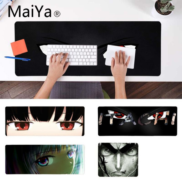 MaiYa New Design cool anime eyes Beautiful Anime Mouse Mat Gamer Speed Mice Retail Small Rubber Mousepad