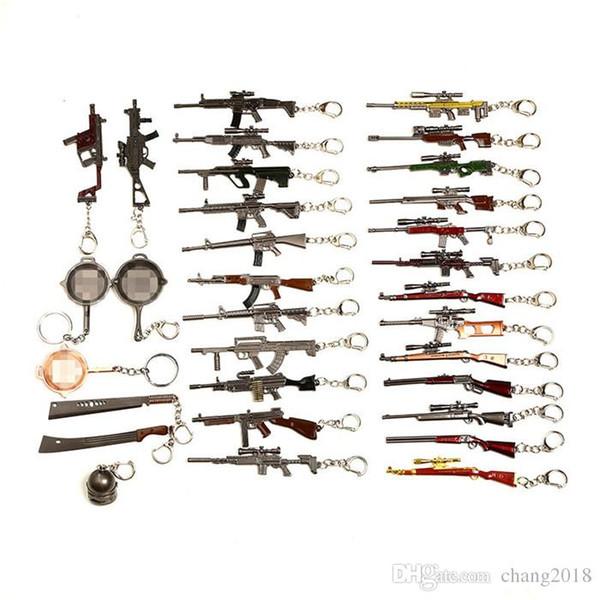 PUBG Keychain Battle Grounds Keychain Helmet Pan 98K Gun Alloy Keyring Jewelry FPS Game Fans Gift llaveros mujer brelok jhgy