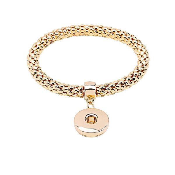 Золотые браслеты с кнопками со сменными брелоками
