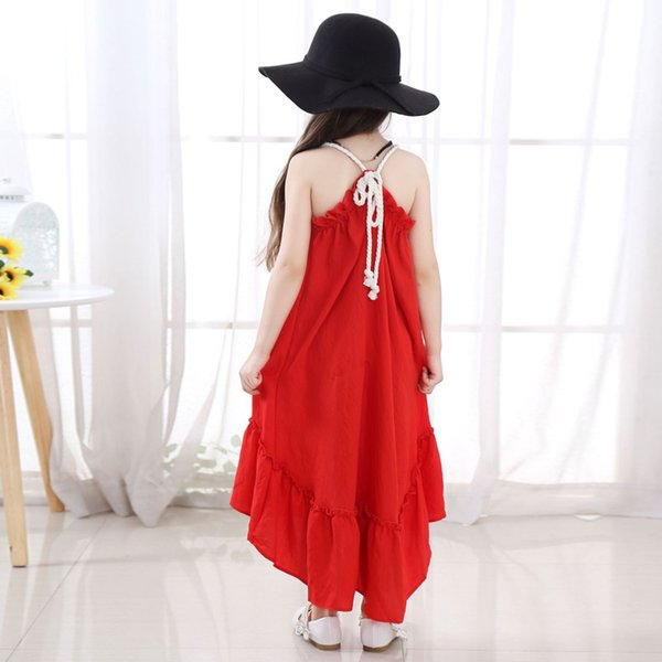 15bc1df2836d New baby girls dress summer style sleeveless fancy dress for girls party  beach baby kids fashion