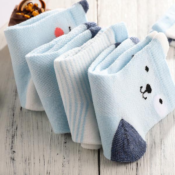 Infant Baby Children's Cute New Frühjahr und Sommer Mesh dünne Cartoon-Socken alle Baumwolle Mid-Tube Jungen und Mädchen in der Röhre Socken Großhandel