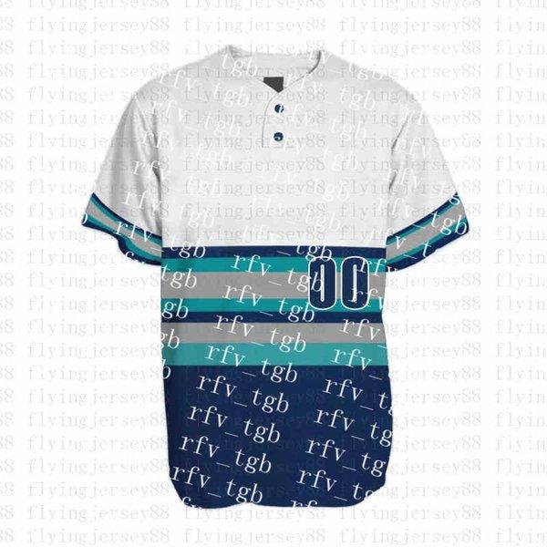 Top Mens Bordados Logos Jersey Frete Grátis Barato por atacado Qualquer nome qualquer número Personalizado Baseball Jerseyspl7