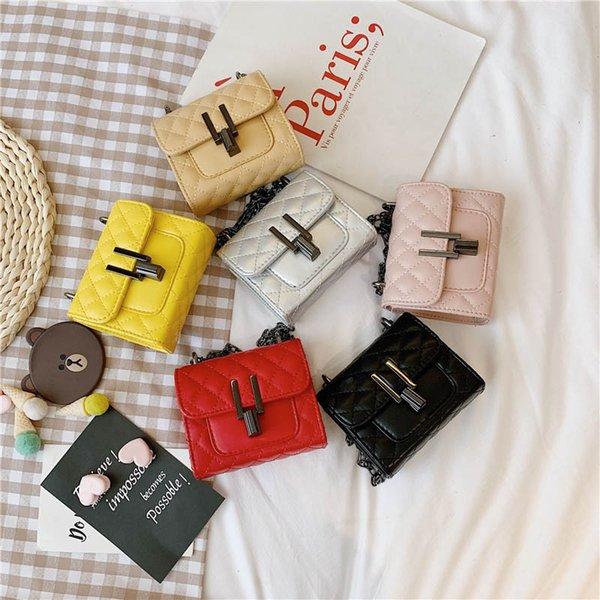 Mini enfants sacs mode filles sacs enfants bourse Pu cuir Sacs à bandoulière Filles Messenger Bag chaîne Enfants Sac accessoires enfants A7509