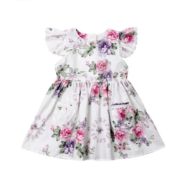 Fashion Toddler Kids Baby Girls Clothes Pink Purple Flower Party Pageant Tutu Gown Dress Sundress Children Clothing Fashion Toddler Kids Baby Girls Clothes Pink Purple Flower Party Pageant Tutu Gown Dress Sundress Children Clothing