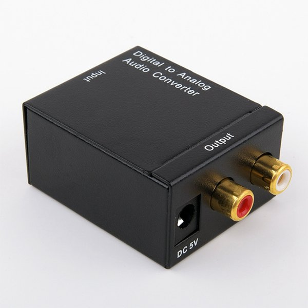 Digital Adaptador Optic Coaxial RCA Toslink Signal to Analog Audio Converter Adapter Cable by Free Shipping