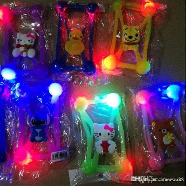 НОВЫЙ светодиодный свет Универсальный чехол для телефона 3D Мультфильм силиконовый чехол для телефона Защитная мягкая резиновая рамка для 3,5-5,5-дюймовых мобильных телефонов