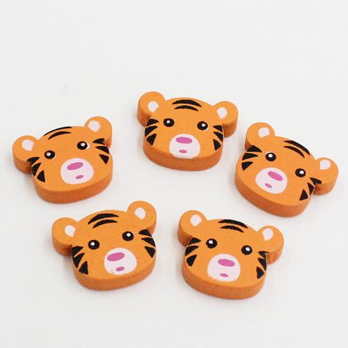 Fashion Jewelry 50pcs/lot Wholesale Wood Beads Lead-free Tiger Wooden Beads For DIY jewelry Finding 23x18mm Hole:2mm(K01954)