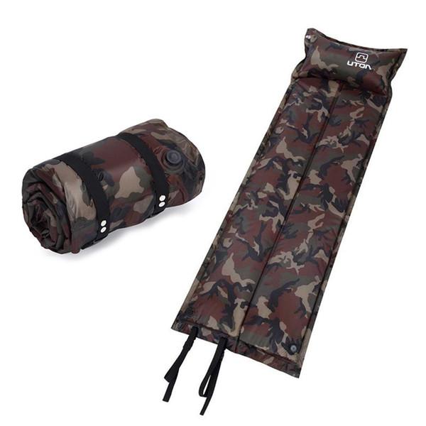 Coussin gonflable Tapis d'extérieur Haute éponge élastique Pique-nique Randonnée Camping Sleeping Pad Air Sofa Matelas Gonflable