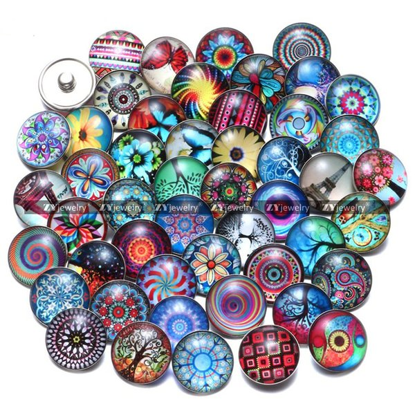 Colorful 100 pcs/lot Snaps 18mm cute Snap Button Jewelry for Ginger Snap Charm Bracelet Jewelry
