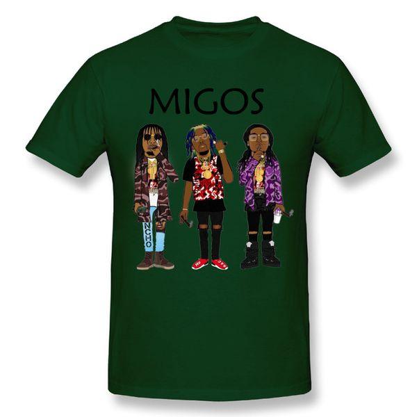 2019 mens designer t shirts 2018 New Arrival Man Migos T Shirt Popular Hip Hop Streetwear Soft T-Shirt underwear Cheerleading Transfers wear
