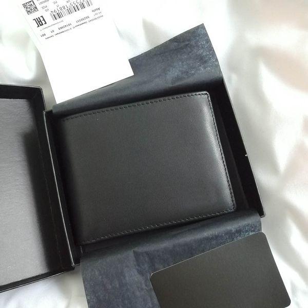 Designer luxury Men's Boss wallets 2020 ITALIAN LEATEHR Calfskin rfid Mens money clip credit card holder wallet ,With Original packages
