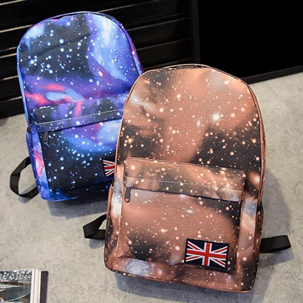Korean New Stylish Casual Star Backpack Outdoor Sports Mountain School Bag For Men Women Gift For Friends UK Flag