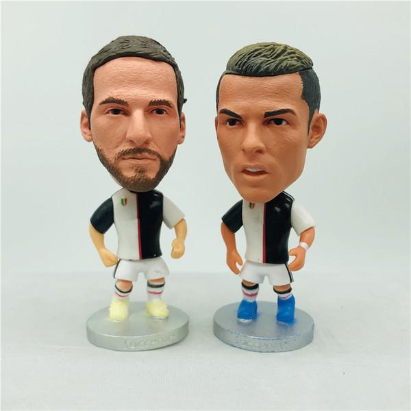 best selling Soccerwe Serie-A JUV 2020 Season Player Figurine Ronaldo Mandzukic Dybala Buffon Piero Pirlo Dolls White Black Kit Le Zebre Collections Gift