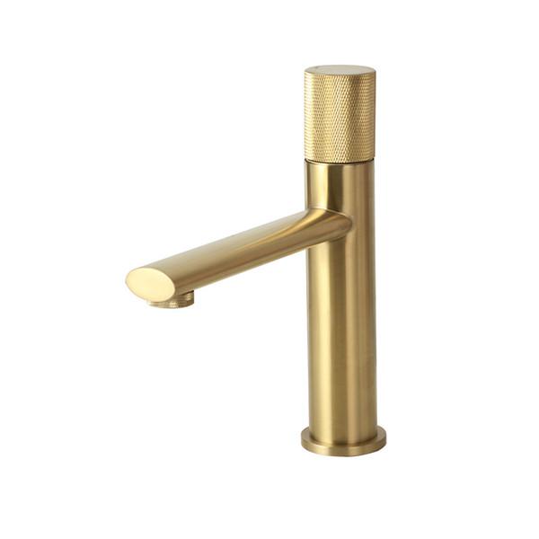 Escovado torneira de ouro S