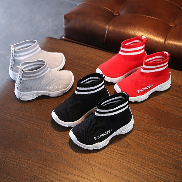 2019 1 To 5 Years Old baby Boys And Girls Short Boots Breathable Soft Sole Comfortable Fashion Children Sports Shoes Non-Slip