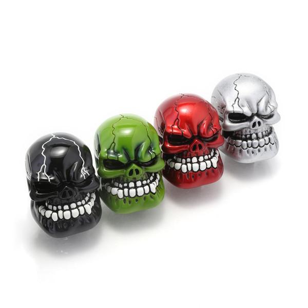 Manual Gear Universal Pommeau de levier Shifter levier Wicked Sculpté Skull Pomo marchas Noir Vert Rouge Argent D5