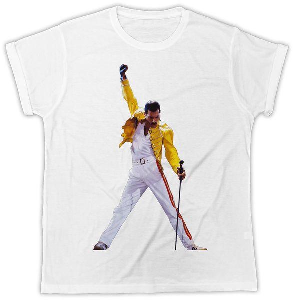 Фредди Меркьюри идеальный подарок на день рождения с коротким рукавом мужская прохладный футболка классическое качество высокая футболка джинсовая одежда Camiseta футболка
