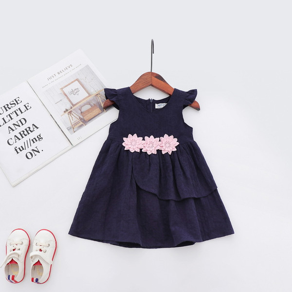 2019 DHgate New Summer Kids Simple And Beautiful Flower Doll Princess Skirt  Dresses Wholesale From Chinese Suppliers From Dailyrise, $11.16