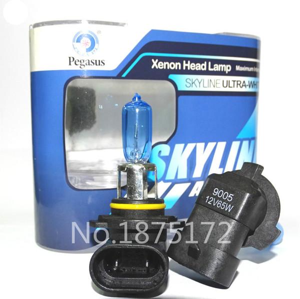 2pcs 9005 HB3 12V 65W 5000K Super White phare de voiture Ampoule feu antibrouillard Ampoule automatique des têtes Ampoules Voitures Source de lumière blanche