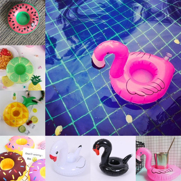 Floating inflatable cup holder Swan Cup Holder Outdoor Swimming Bath Kids Toys Water Floating Party Decorations