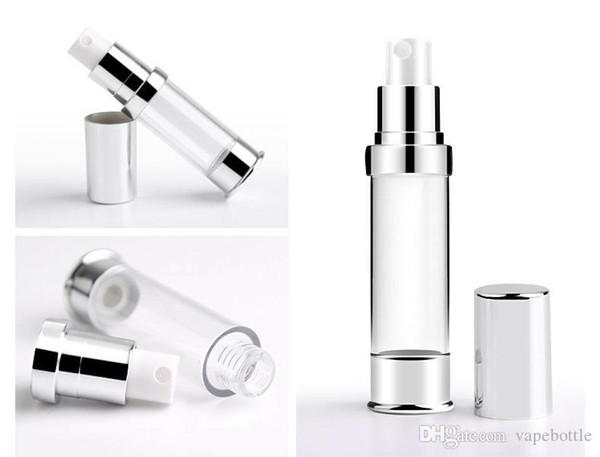 Yeni Geliş 300pcs 5ml 10ml 15ml 30ml Mini Seyahat Doldurulabilir boşaltın Atomizer Parfüm Şişesi Pompa Vaka havasız pompa kozmetik kapları Sprey
