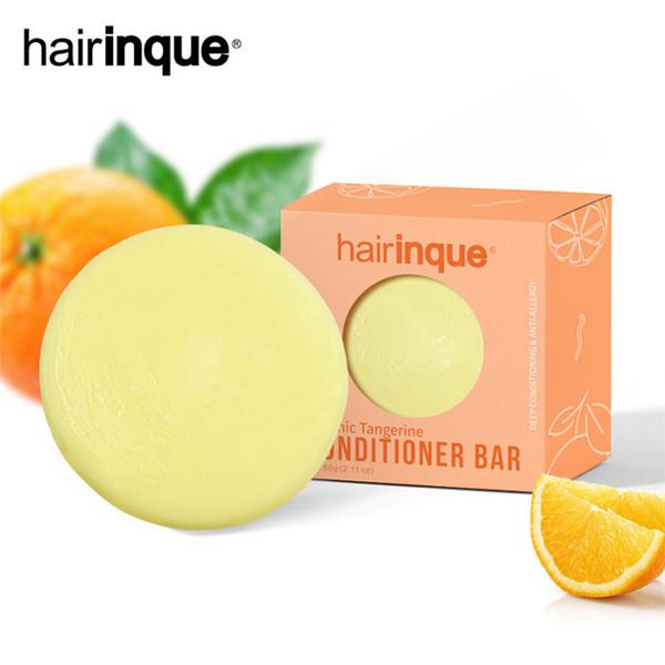 top popular HAIRINQUE Organic hair conditioner bar handmade moisturizing nourishing hair conditioner soap traveling hair care soap 30pcs 2021