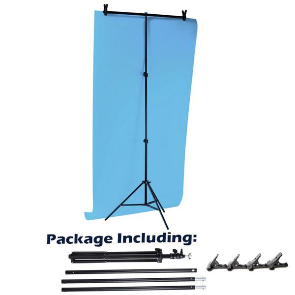 60 cm / 80 cm / 200 cm Arka Plan Fotoğraf Zemin Desteği büyük PVC Arka Plan Alüminyum Tripod Çapraz Bar Klip Ile Tutucu Stand