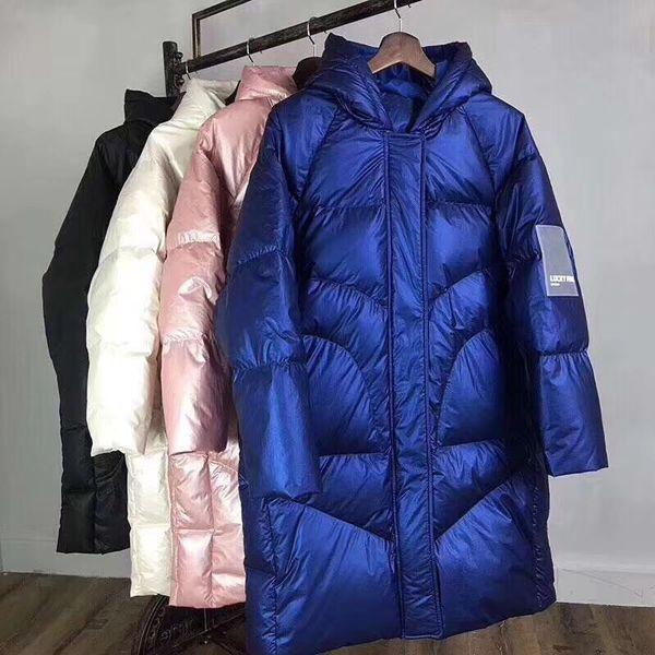 2020 2019 Winter Warm Down Jacket Women 2019 Clothing Thick Long Oversized Coat Women Hooded Korean Female Plus Size Puffer Jacket SH190930 From