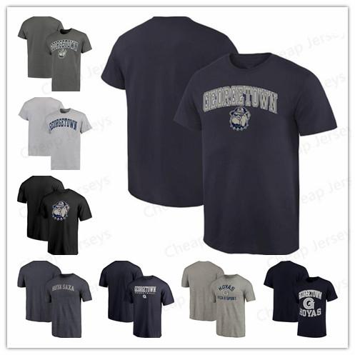 Coutume Georgetown Hoyas Champion Tradition manches courtes Mode été tee shirt Big Tall True Sport Tee shirt de Basketball livraison gratuite