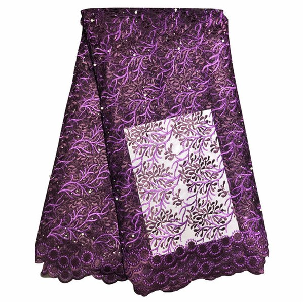 Multi Colors Lace Fabrics Arabic African Style French Lace Fabric For Wedding Gowns Evening Prom Dress High Quality 426-8