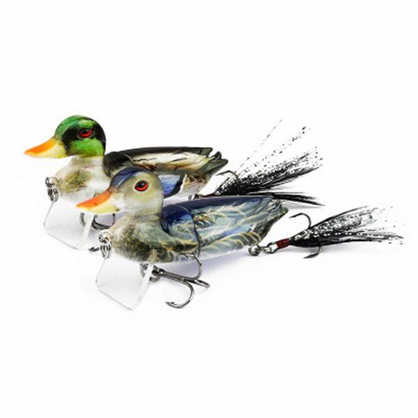10g 7 cm Realistische Ente Angelköder Lebensechte Bionic Decoy Fisch Harten Köder Für Schwimmwasser 25mm ZZA689