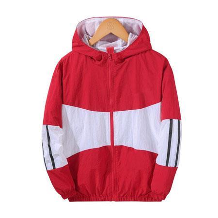 Designer en gros Mens Womens Designer Coupe-vent Printemps Automne Zipper Hoodies Mode Sport Vestes Gym Running Manteaux S-2XL B100124Q