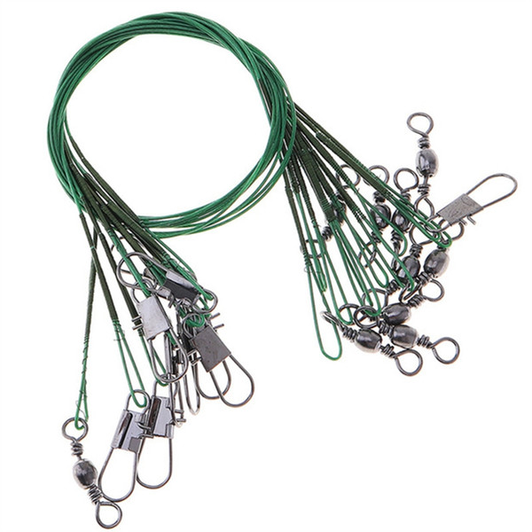 Tragbare High Carbon Angeln Lead Line Edelstahl String Seil 10 STÜCKE