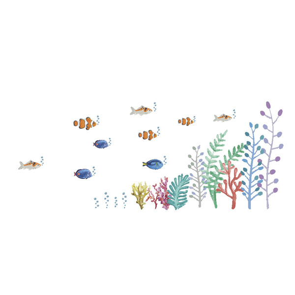 Wall Stickers Home Wall Decor Cartoon Sea World Sticker for Kids Room Bedroom Decoration DIY Poster Mural Wallpaper Wall Decals