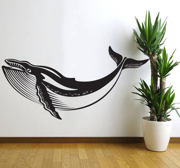 Under The Sea Ocean Whale Nursery Wall Decal Art Decor Sticker Vinyl Kids Bedroom Wall Stickers Bathroom Home Decor