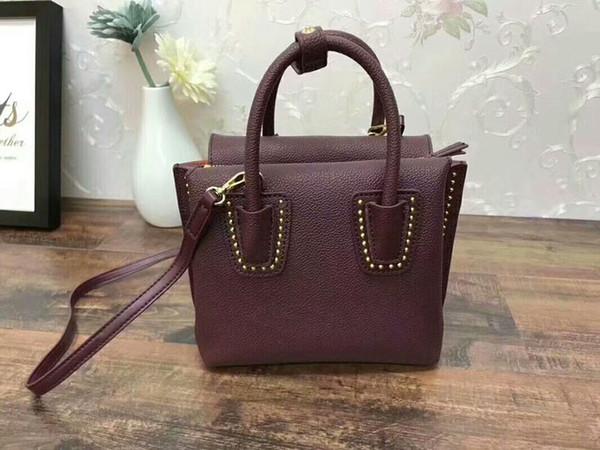 bolsos del diseñador de la marca preciosa MILLA remache Veau Nuage bolso de lujo totalizadores de la manera bolso de cuero genuino de la marca famosa