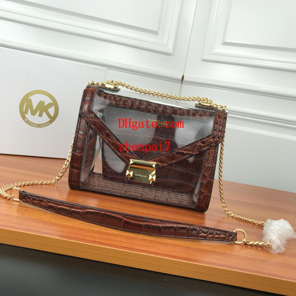 2019 brand fashion bags Transparent genuine leather shouder bag ladies handbags purses crossbody bag High quality handbags DEF-5