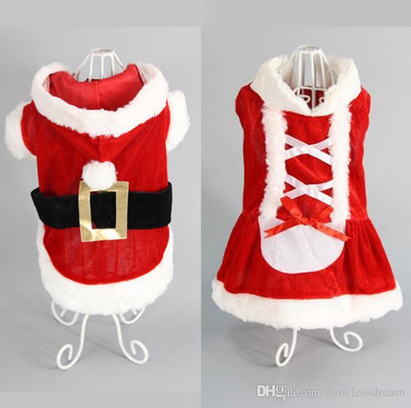 Wholesale 5 size dog costume Christmas dog transformed dress santa suit classic Euramerican pet dog Christmas clothes pet apparel decoration