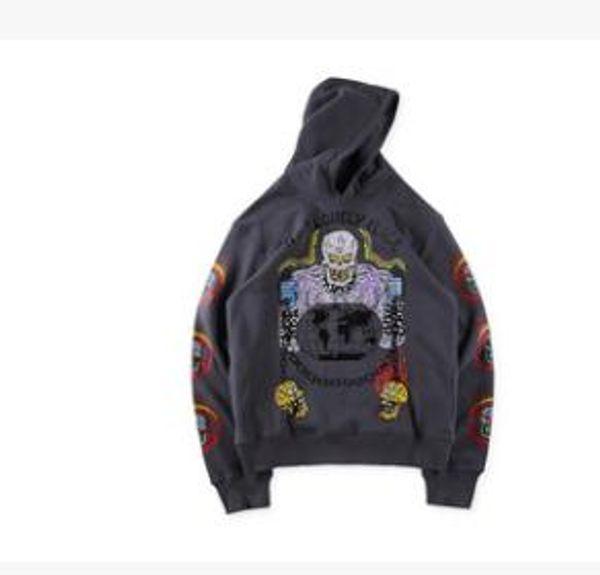 KANYE WEST x XXXTENTACION Rap Hoodies Men Street Oversize Hiphop Skateboard Graffiti Sweatshirts