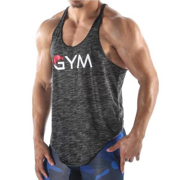 Musculação GYM Correndo Colete Dos Homens de Fitness Sem Mangas Camisola Bodybuilding Tops de Ginástica Treinamento de Ginástica Top Esporte t shirt Dos Homens Sportswear