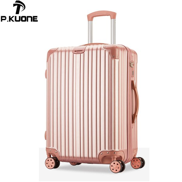 099fb9931 Nueva maleta ABS / conjunto de maletas con franjas para PC serie 20 maleta  con trolley