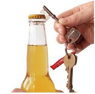 123 Bottle clé Mini métal inoxydable Ouvre bière Ouvre Ought Porte-clé antique anneau porte-Keychain décoratif