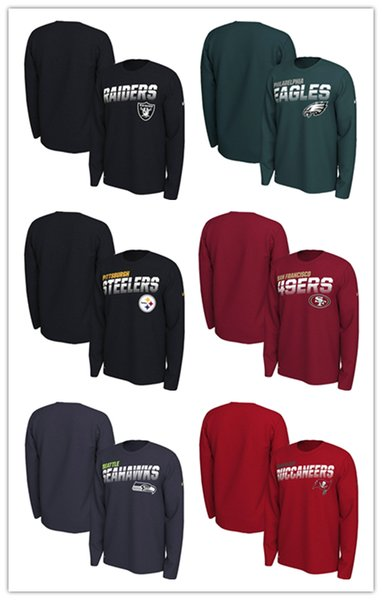 Philadelphia Raiders Eagles Pittsburgh Seahawks Oakland Steelers Seattle Sideline Line of Scrimmage Legend Performance Long Sleeve T-Shirt