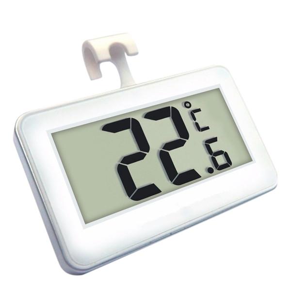 Buzdolabı Dondurucu Buzdolabı Günlük Su geçirmez Ölçer için 1 adet Kablosuz Dijital Termometre Kapalı Kullanışlı Sensör W / Mıknatıs Kanca