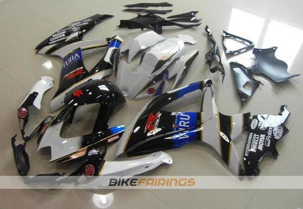 Nuevo ABS Kit completo de carenados 100% apropiado para SUZUKI GSXR600 GSXR750 08 09 10 GSX R600 R750 K8 GSX-R600 GSXR 600 750 2008 2009 2010 custom VIRU