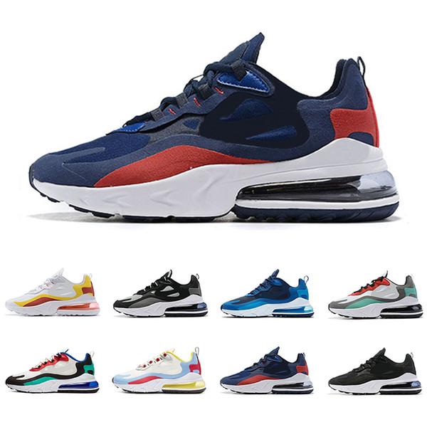 Acheter Nike Air 270 React Nouveau 2019 Réagir Hommes Chaussures De Course Top Qualité BAUHAUS OPTICAL Triple Mode Noir Formateurs Hommes Respirant