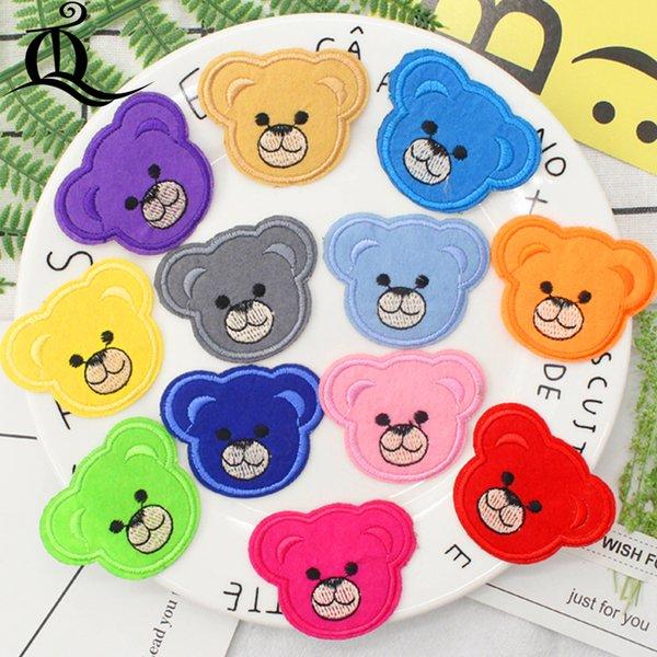 free shipping mix 12pcs baby bear Sewing Clothes Jeans Embroidery patches for clothing Applique Motifs Sew On cartoon animal C20